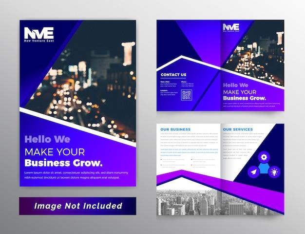 Kleurovergang abstracte zakelijke brochure