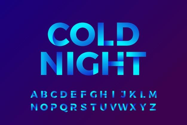 Kleurovergang alfabet achtergrond
