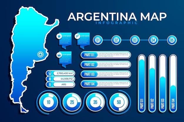 Kleurovergang argentinië kaart infographic