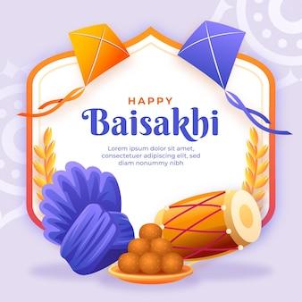 Kleurovergang baisakhi illustratie