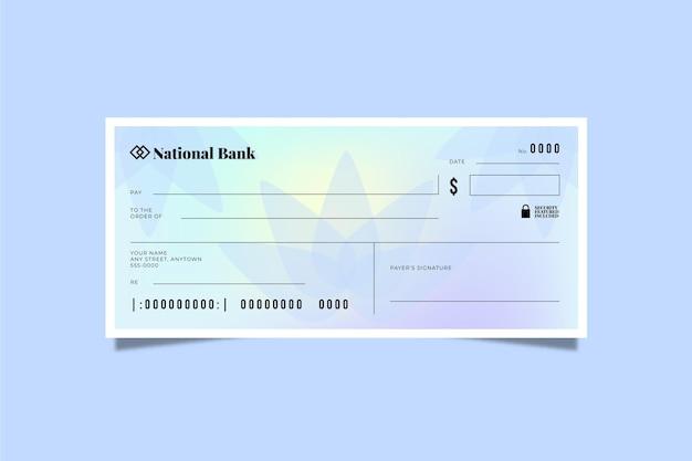 Kleurovergang blanco cheque sjabloon