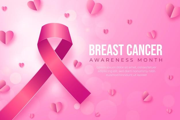 Kleurovergang borstkanker bewustzijn maand illustratie