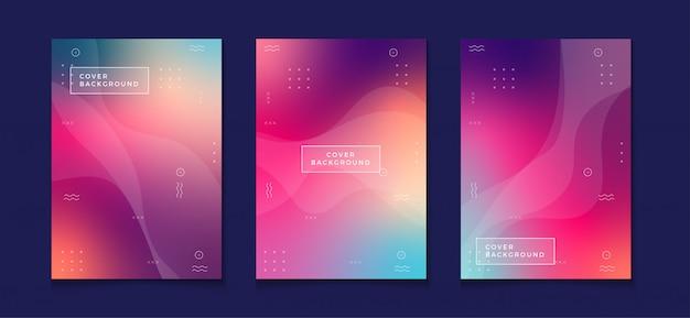 Kleurovergang cover ontwerpsjabloon