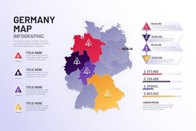 Kleurovergang duitsland kaart infographic