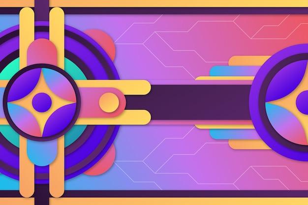 Kleurovergang geometrische achtergrondthema
