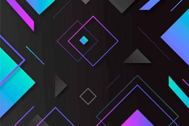 Kleurovergang geometrische vormen op donkere achtergrond