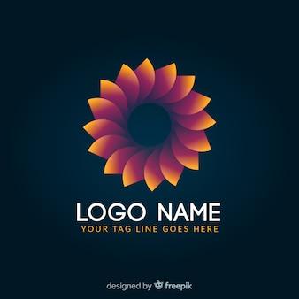 Kleurovergang gloeiende kleurrijke geometrische logo