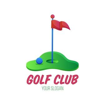 Kleurovergang golf logo sjabloon