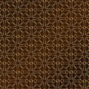 Kleurovergang gouden arabisch patroon