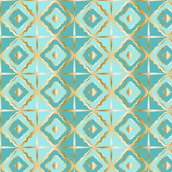 Kleurovergang gouden arabisch patroon Gratis Vector