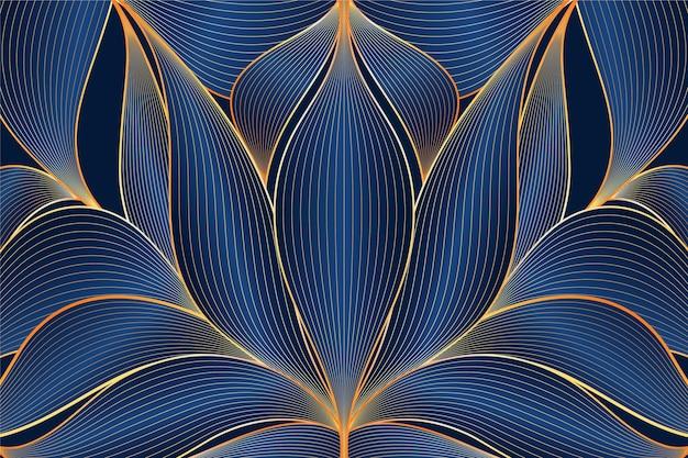 Kleurovergang gouden lineaire achtergrond
