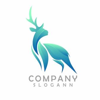 Kleurovergang herten logo sjabloon