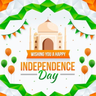 Kleurovergang india onafhankelijkheidsdag illustratie