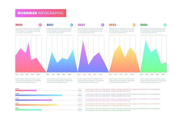 Kleurovergang infographics bedrijfsconcept