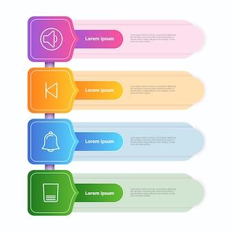 Kleurovergang infographics sjabloon