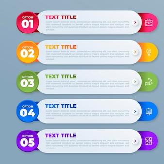 Kleurovergang inhoudsopgave infographic