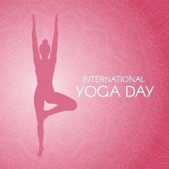 Kleurovergang internationale dag van yoga illustratie