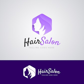 Kleurovergang kapsalon logo sjabloon Gratis Vector