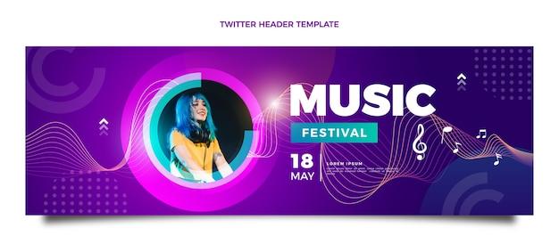 Kleurovergang kleurrijke muziekfestival twitter header
