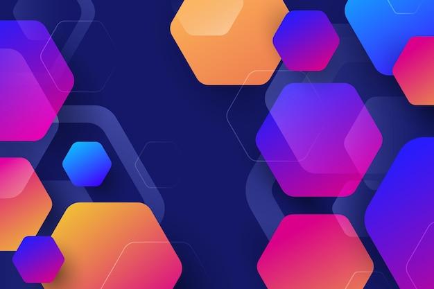 Kleurovergang kleurrijke zeshoekige achtergrond