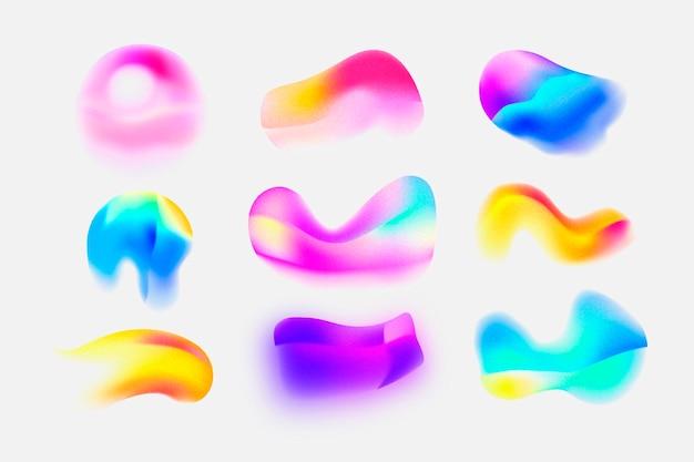 Kleurovergang korrelige verloopvormcollectie