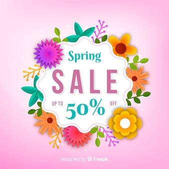 Kleurovergang lente verkoop achtergrond