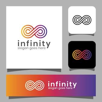 Kleurovergang lijntekeningen oneindigheid lus logo ontwerp