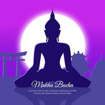 Kleurovergang makha bucha dag illustratie