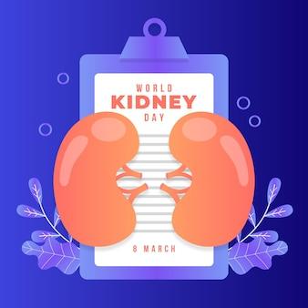 Kleurovergang nier dag illustratie