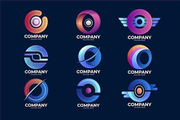 Kleurovergang o logo set
