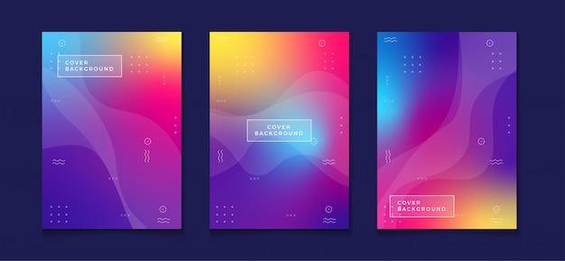 Kleurovergang ontwerpsjabloon a4