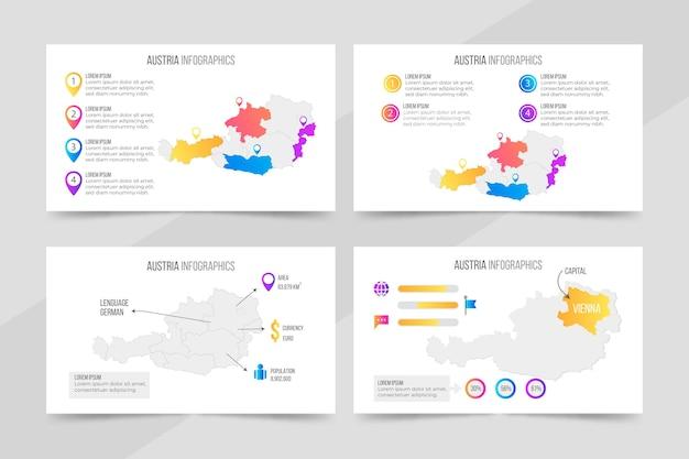 Kleurovergang oostenrijk kaart infographic