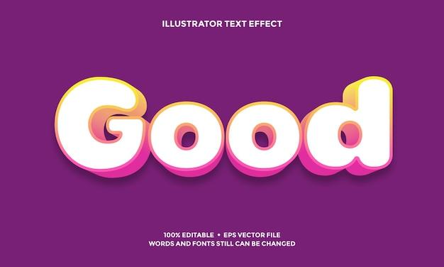 Kleurovergang paars teksteffect of lettertype alfabet stijlsjabloon