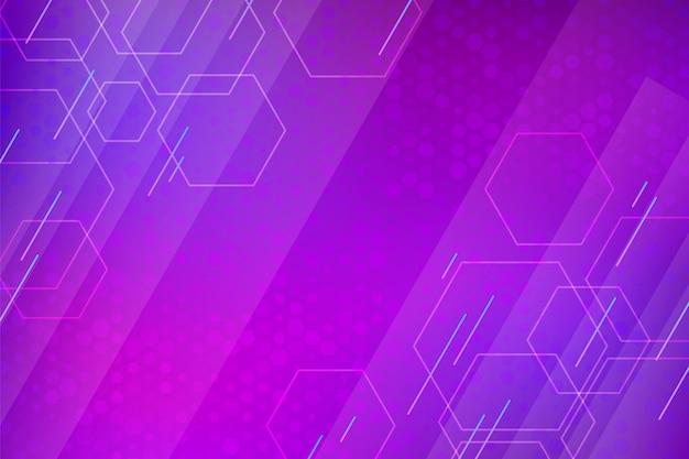 Kleurovergang paarse zeshoekige achtergrond
