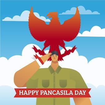 Kleurovergang pancasila dag illustratie
