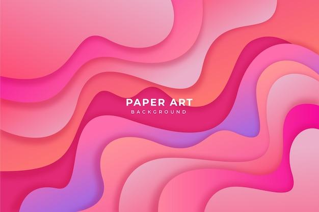 Kleurovergang papier kunst achtergrond