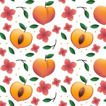 Kleurovergang perzik patroon ontwerp