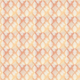 Kleurovergang rose goud art deco naadloos patroon