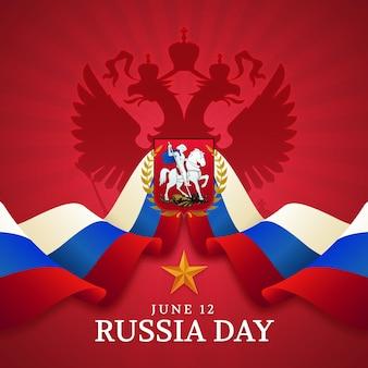 Kleurovergang rusland dag illustratie