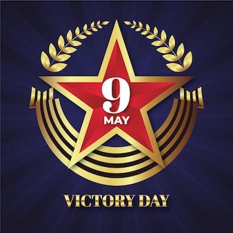 Kleurovergang russische overwinning dag illustratie