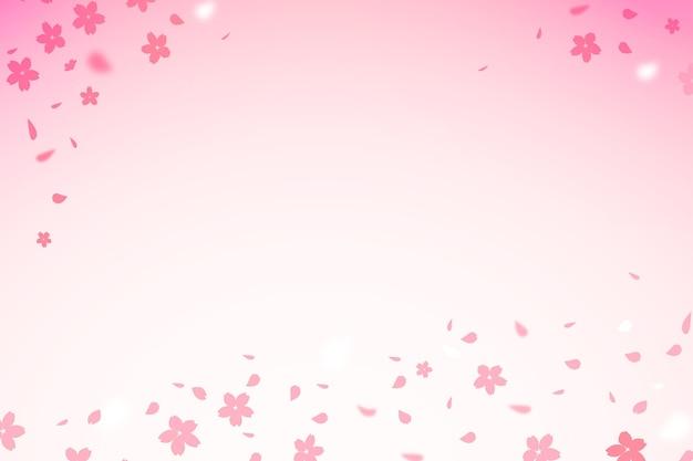 Kleurovergang sakura bloemen kopiëren ruimte achtergrond