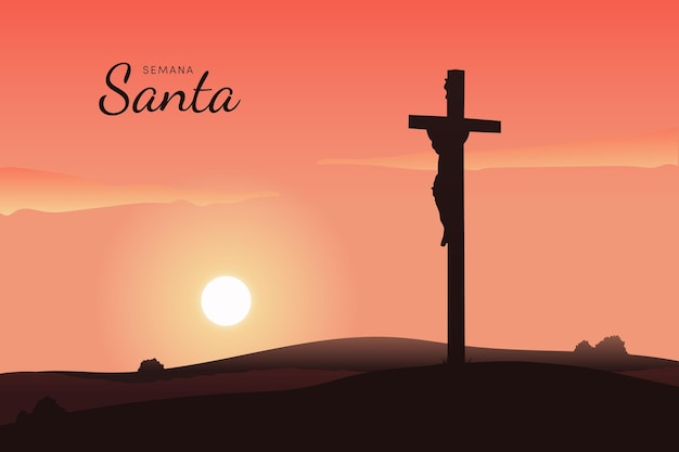Kleurovergang semana santa illustratie