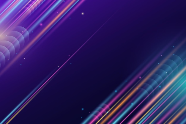Kleurovergang snelheid beweging neon achtergrond
