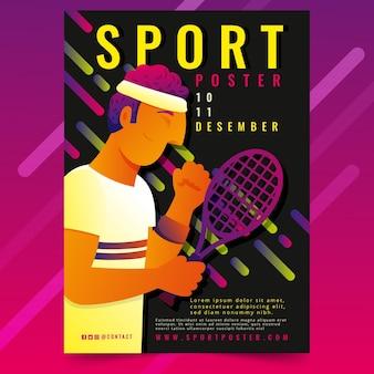 Kleurovergang sport poster