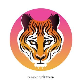 Kleurovergang tijger achtergrond