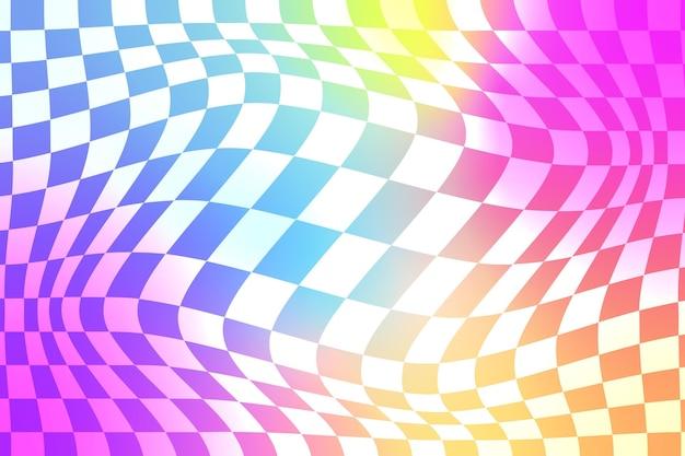 Kleurovergang vervormd geruite achtergrond