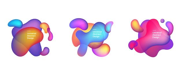 Kleurovergang vloeibare samenstelling van abstracte elementen
