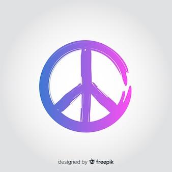 Kleurovergang vrede teken achtergrond