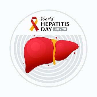 Kleurovergang wereld hepatitis dag illustratie