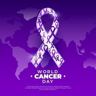 Kleurovergang wereld kanker dag illustratie